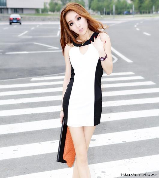 Вставки в платье по бокам фото