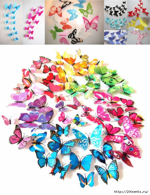 2015 Hot Sale free shipping 12pcs PVC 3d Butterfly wall decor cute Butterflies wall stickers art Decals home Decoration/5863438_2015HotSalefreeshipping12pcsPVC3dButterflywalldecorcuteButterflieswallstickersart (500x649, 259Kb)