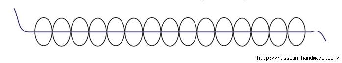 Ментоловый браслет из бисера. Схемы плетения (7) (700x130, 37Kb)