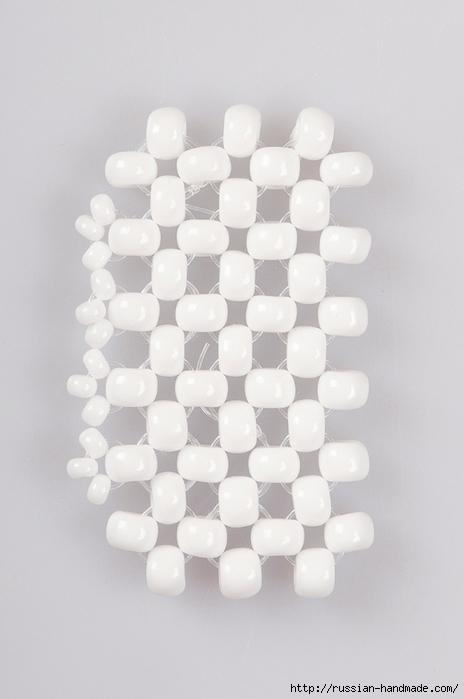 Ментоловый браслет из бисера. Схемы плетения (17) (464x700, 170Kb)