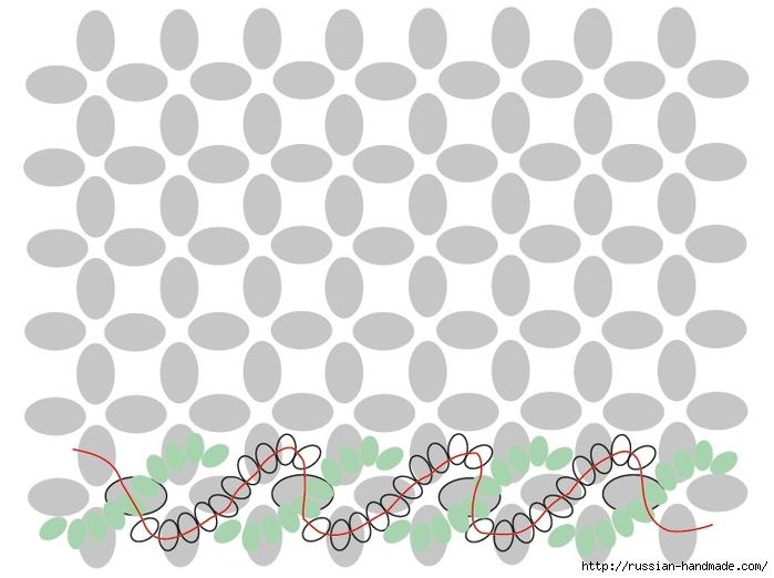 Ментоловый браслет из бисера. Схемы плетения (20) (700x522, 160Kb)