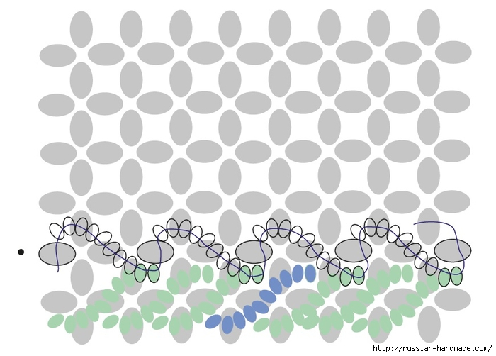 Ментоловый браслет из бисера. Схемы плетения (22) (700x502, 155Kb)