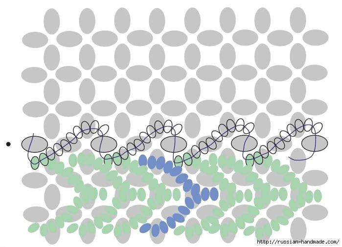 Ментоловый браслет из бисера. Схемы плетения (26) (700x506, 178Kb)