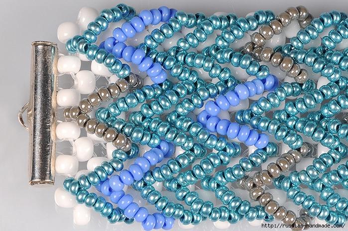 Ментоловый браслет из бисера. Схемы плетения (30) (700x464, 389Kb)