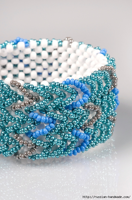 Ментоловый браслет из бисера. Схемы плетения (36) (464x700, 271Kb)