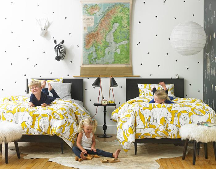 яркий интерьер детской комнаты 1 (700x550, 442Kb)