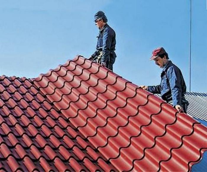 Покрытия для крыши - кровля из металлочерепицы 1 (700x581, 97Kb)