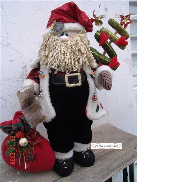 Дед мороз текстиль своими руками 520
