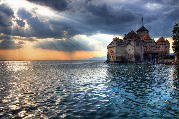 Шильонский замок, Швейцария (604x403, 64Kb)