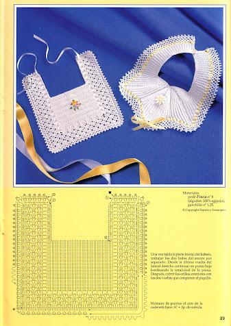 Вязание крючком - ажурная шапочка для малыша и слюнявчики.  Прекрасный подарок для новорожденного.