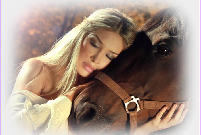 лошадь и девушка (700x469, 412Kb)