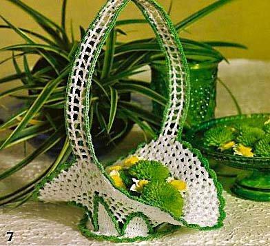 Схемы для вязания вазочек