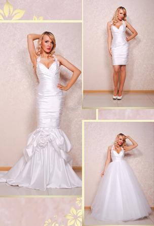 Свадебное платье трансформер сшить