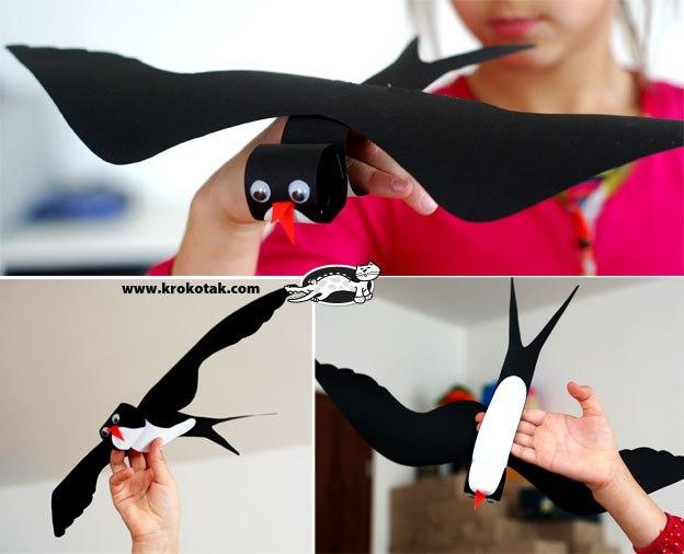 Сделать птичку из бумаги своими руками