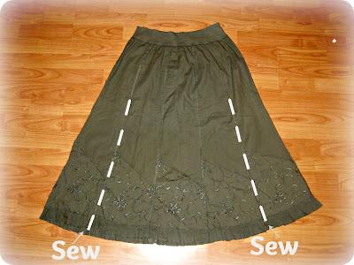 Перешить из платья юбку своими руками