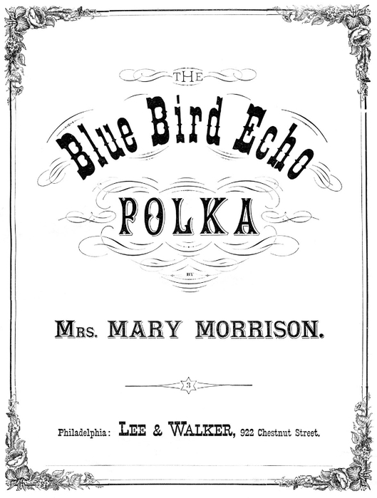blue bird polka vintage image graphicsfairybw1sm (529x700, 138Kb)