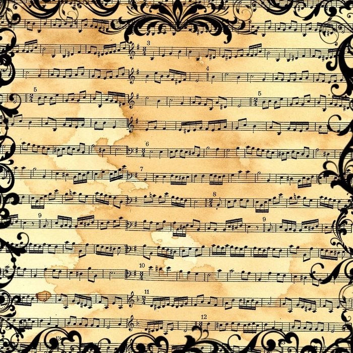 free digital scrapbook paper_music sheet collage_backgound (700x700, 525Kb)