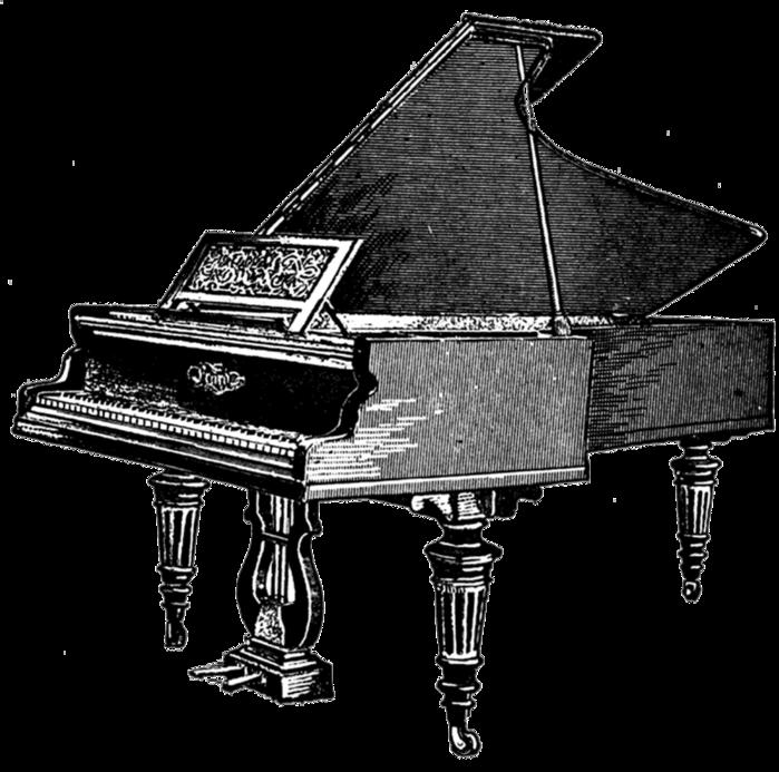 free vintage digi stamp_piano (700x693, 211Kb)