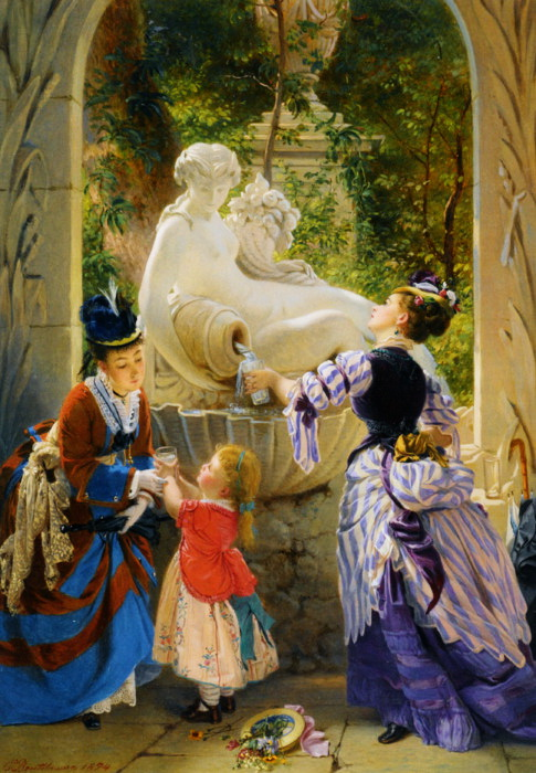 A La Fontaine (1874) by Charles Edouard Boutibonne. (485x700, 149Kb)