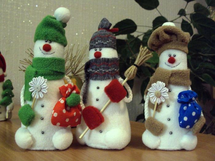 Как сделать поделки своими руками снеговика фото