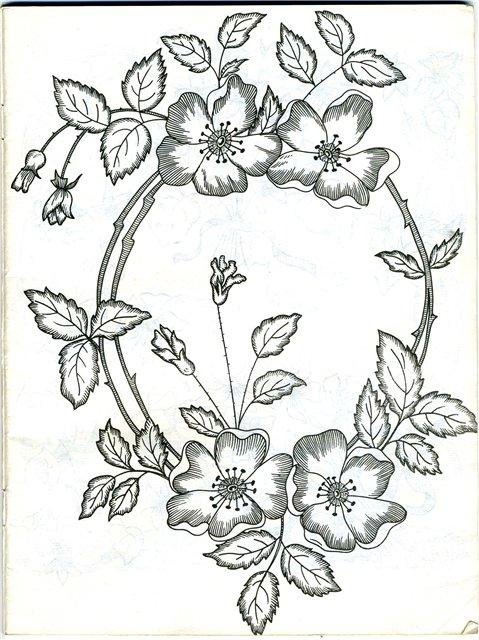 Картинки для вышивки гладью цветы 8