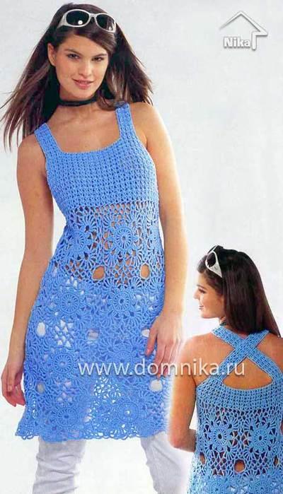 <схемы вязания крючком платья
