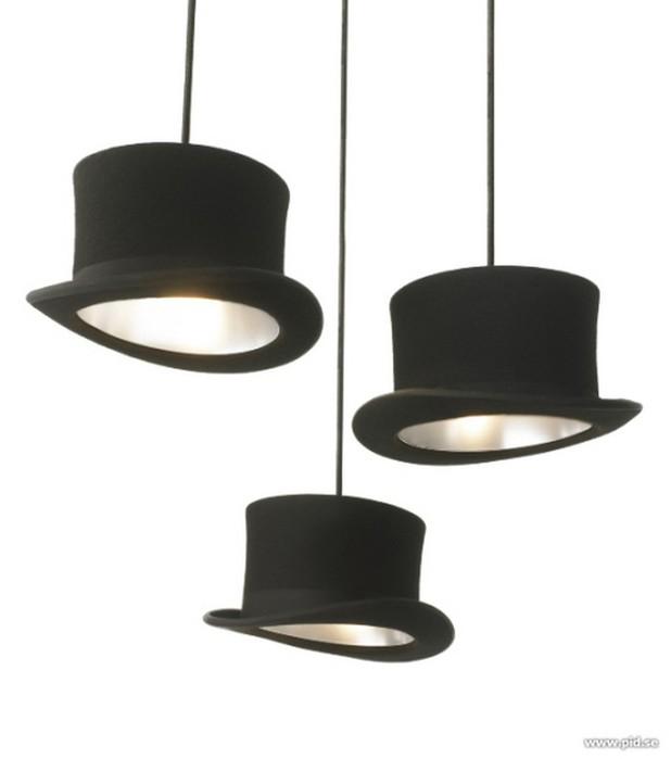 Настенный декор интерьера с помощью шляп 5 (618x700, 25Kb)