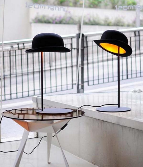 Настенный декор интерьера с помощью шляп 11 (599x700, 78Kb)