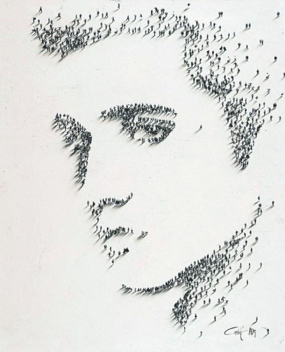 пиксель-арт, картины американского художника, оригинальные портреты, Крейг Алан, художник Крейг Алан