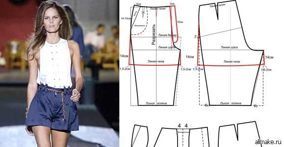Как сшить своими руками шорты