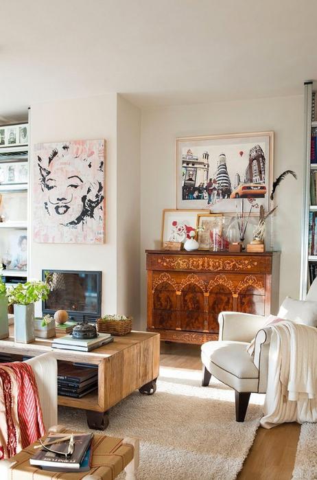 Стиль шебби шик в интерьере одной испанской квартиры 2 (462x700, 345Kb)