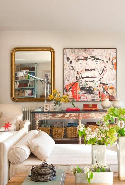 Стиль шебби шик в интерьере одной испанской квартиры 4 (476x700, 357Kb)