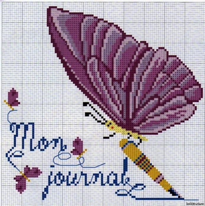 【转载】十字绣-15-蝴蝶系列--(燕窝编织) - 木棉花的