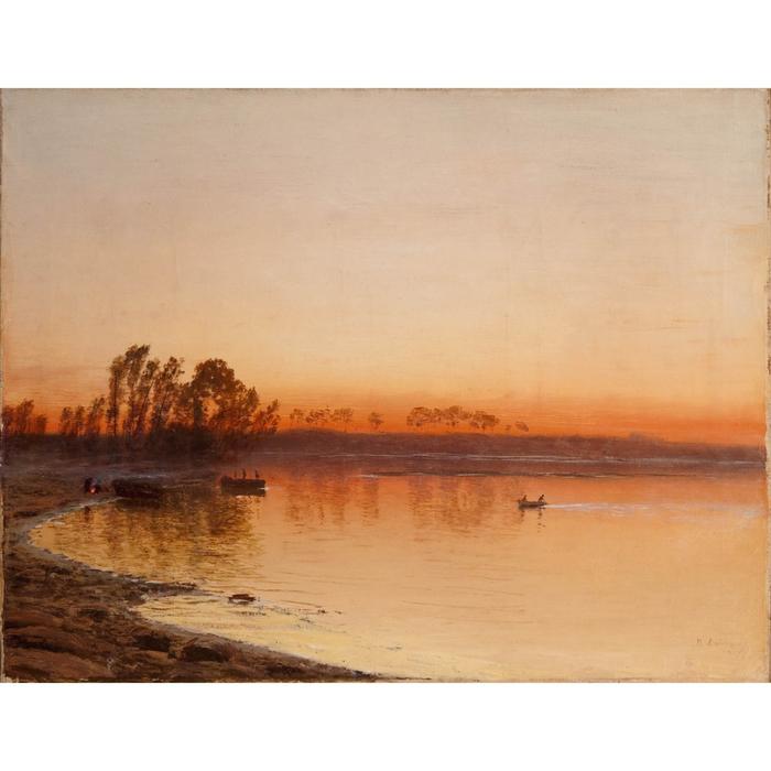 Рассвет на реке (700x700, 324Kb)