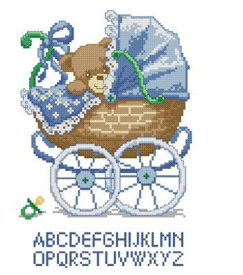 70-660 Boy Bear Carriage (350x396, 117Kb)