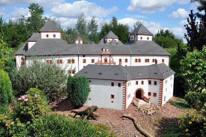 Парк миниатюр в Германии - Miniwelt Lichtenstein, Sachsen. 80538
