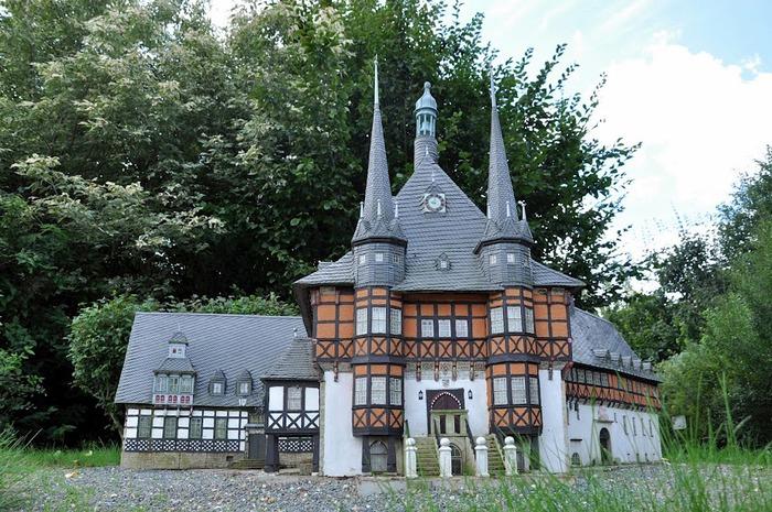 Парк миниатюр в Германии - Miniwelt Lichtenstein, Sachsen. 77648