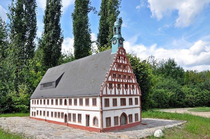 Парк миниатюр в Германии - Miniwelt Lichtenstein, Sachsen. 24007