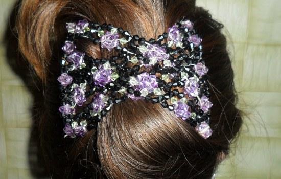 Дорогие женщины и девушки предлагаем вашему вниманию мастер - класс по бисероплетению заколки для волос Изи Хоум.