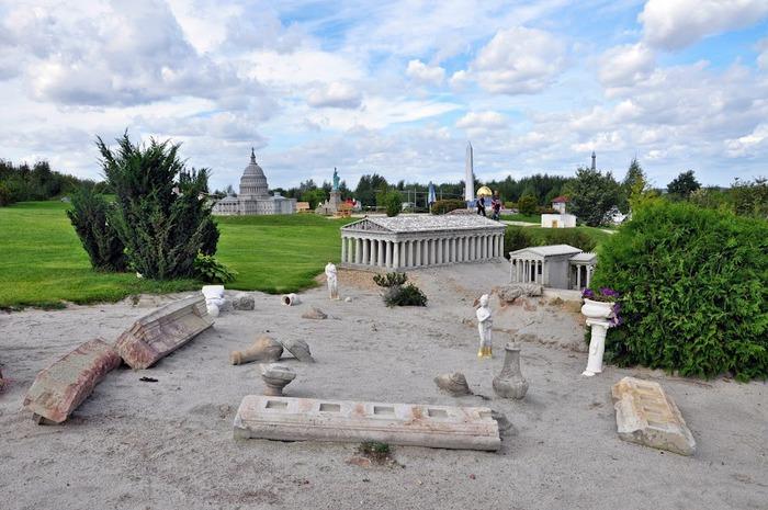 Парк миниатюр в Германии - Miniwelt Lichtenstein, Sachsen. 82856