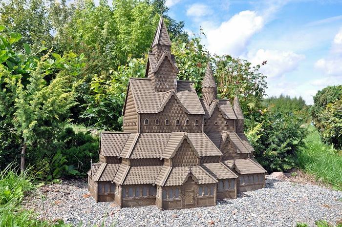 Парк миниатюр в Германии - Miniwelt Lichtenstein, Sachsen. 73488