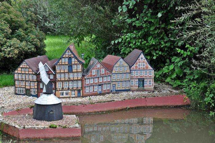 Парк миниатюр в Германии - Miniwelt Lichtenstein, Sachsen. 29174