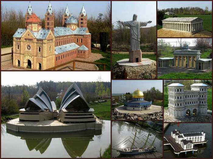 Парк миниатюр в Германии - Miniwelt Lichtenstein, Sachsen. 49318