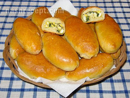 Рецепт пирожки с яйцом пошаговый с фото