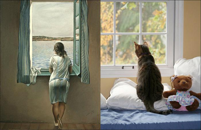 кошки в живописи 3 (700x453, 111Kb)