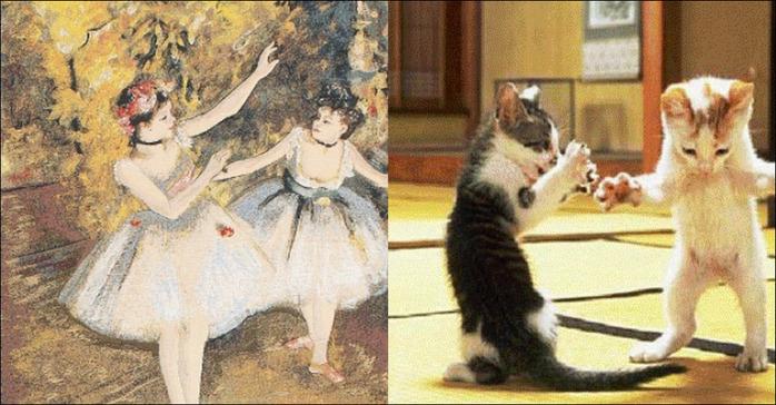 кошки в живописи 13 (700x364, 131Kb)