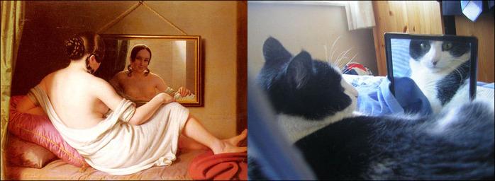кошки в живописи 17 (700x256, 74Kb)