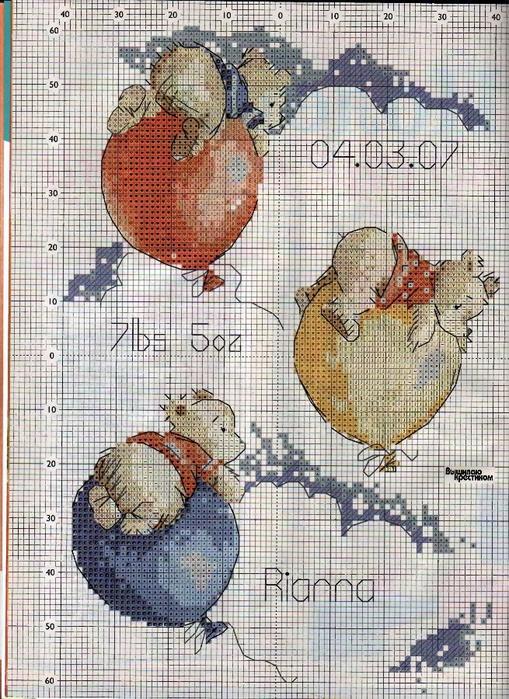 мишки на шариках схема