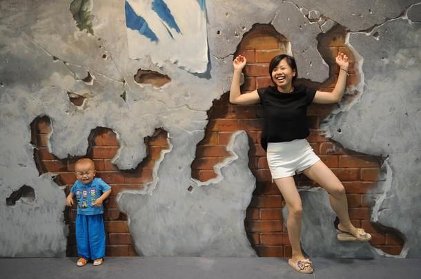 Трехмерные картины на Magic Art Special Exhibition 2012, Китай, Ханчжоу, 21 июля 2012 года