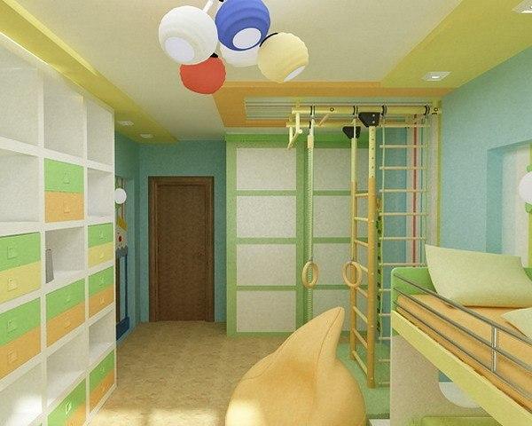 Дизайн детской для двух мальчиков 11 кв.м